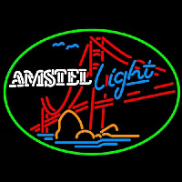 Amstel Light Golden Gate Bridge Beer Neon Sign
