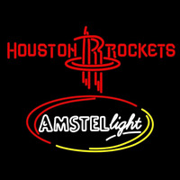 Amstel Light Houston Rockets NBA Beer Sign Neon Sign