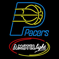 Amstel Light Indiana Pacers NBA Beer Sign Neon Sign