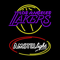 Amstel Light Los Angeles Lakers NBA Beer Sign Neon Sign