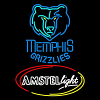 Amstel Light Memphis Grizzlies NBA Beer Sign Neon Sign