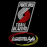 Amstel Light Portland Trail Blazers NBA Beer Sign Neon Sign