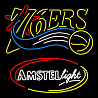 Amster Light Philadelphia 76ers NBA Beer Sign Neon Sign