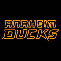 Anaheim Ducks Wordmark 2006 07 Pres Logo NHL Neon Sign Neon Sign