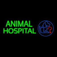 Animal Hospital Dog Cat Logo Veterinary Neon Sign