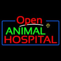 Animal Hospital Open Neon Sign