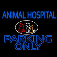 Animal Hospital Parking Only Neon Sign