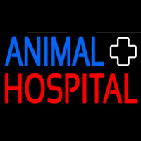 Animal Hospital With Logo Neon Sign
