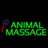 Animal Massage Dog Cat Logo Neon Sign