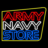 Army Navy Store Neon Sign
