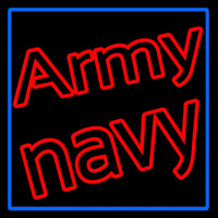 Army Navy With Blue Border Neon Sign