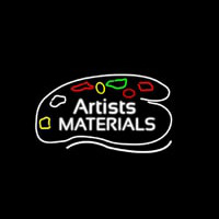 Artists Materials Neon Sign