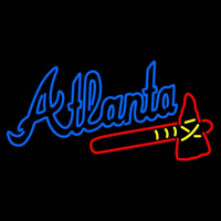 Atlanta Braves Alternate Wordmark 1987 Pres Logo MLB Neon Sign Neon Sign