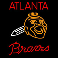 Atlanta Braves Primary 1967 1971 Logo MLB Neon Sign Neon Sign