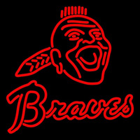 Atlanta Braves Primary 1972 1986 Logo MLB Neon Sign Neon Sign