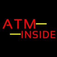 Atm Inside Block Neon Sign