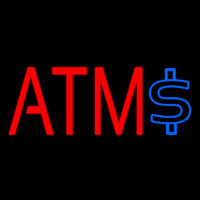 Atm With Dollar Symbol 2 Neon Sign