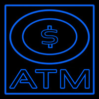 Atm With Dollar Symbol Neon Sign