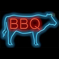 BBQ COW Neon Sign