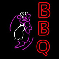 BBQ Pig Neon Sign