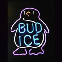 BUD ICE Budweiser Penguin Beer Bar Neon Sign