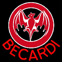 Bacardi Bat Red Logo Rum Sign Neon Sign