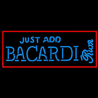 Bacardi Just Add Rum Sign Neon Sign