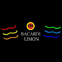 Bacardi Limon Multi Colored Rum Sign Neon Sign