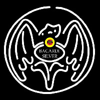 Bacardi Silver Bat Rum Sign Neon Sign