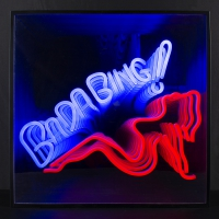Bada Bing Girl 3D Infinity LED Neon Sign
