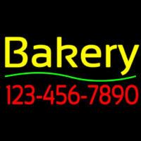 Bakery With Phone Number Neon Sign