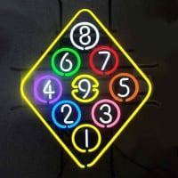 Ball Billiard Rack Pool Neon Beer Sign Neon Sign