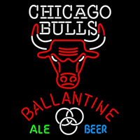Ballantine Chicago Bulls NBA Beer Sign Neon Sign