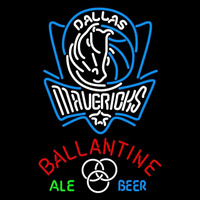 Ballantine Dallas Mavericks NBA Beer Sign Neon Sign