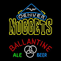 Ballantine Denver Nuggets NBA Beer Sign Neon Sign