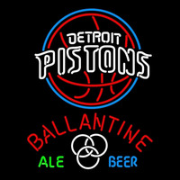 Ballantine Detroit Pistons NBA Beer Sign Neon Sign