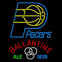 Ballantine Indiana Pacers NBA Beer Sign Neon Sign