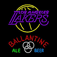 Ballantine Los Angeles Lakers NBA Beer Sign Neon Sign