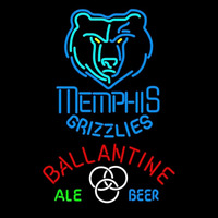 Ballantine Memphis Grizzlies NBA Beer Sign Neon Sign