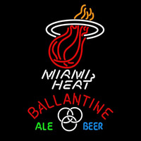 Ballantine Miami Heat NBA Beer Sign Neon Sign