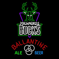 Ballantine Milwaukee Bucks NBA Beer Sign Neon Sign