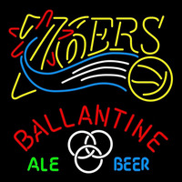 Ballantine Philadelphia 76ers NBA Beer Sign Neon Sign