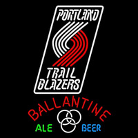 Ballantine Portland Trail Blazers NBA Beer Sign Neon Sign