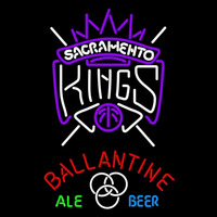 Ballantine Sacramento Kings NBA Beer Sign Neon Sign