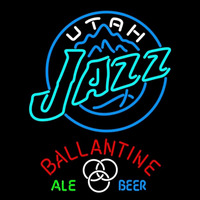 Ballantine Utah Jazz NBA Beer Sign Neon Sign