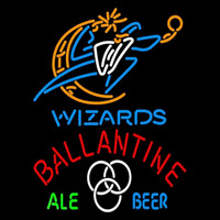 Ballantine Washington Wizards NBA Beer Sign Neon Sign