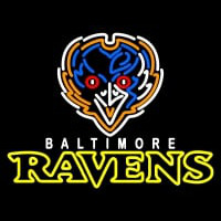 Baltimore Ravens Alternate  Pres Logo NFL Neon Sign Neon Sign