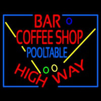 Bar Coffee Shop Pool Table Neon Sign