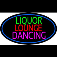 Bar Liquor Lounge Dancing With Wine Glasses Neon Sign
