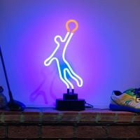 Basketball Man Desktop Neon Sign